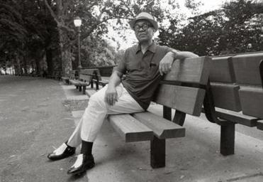 "Ralph Ellison in 1986 in New York, where he lived and set his novel ""Invisible Man."""